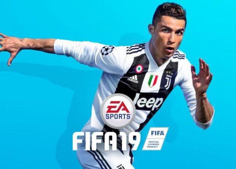 Роналду в форме «Ювентуса» на новой обложке FIFA 19
