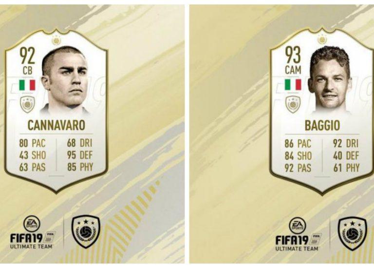 Баджо и Каннаваро появятся в FIFA 19