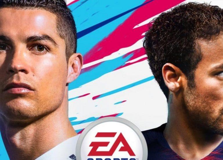 Роналду и Неймар на новой обложке FIFA 19