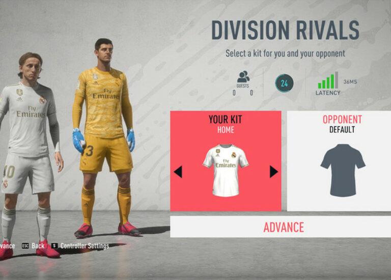 Коннект во время игры в FIFA 2020