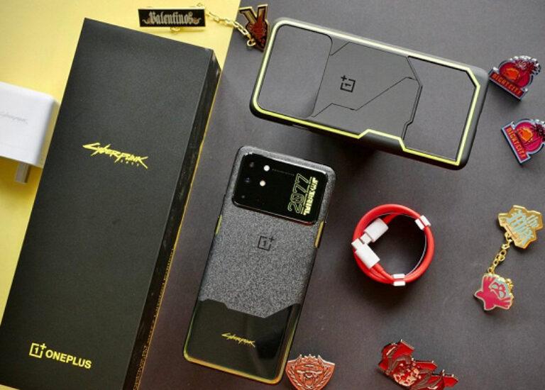 «Каменно-металлическая» крышка OnePlus8TCyberpunk2077LimitedEdition. Разборка аппарата показала, как она реализована