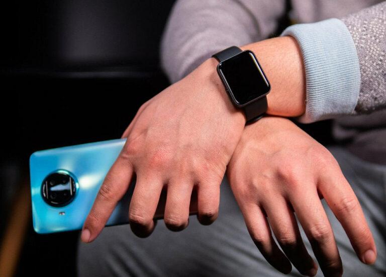 Масса живых фото Redmi Watch с упаковкой, зарядкой и Redmi Note 9